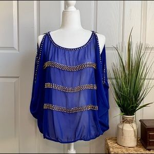 FOREIGN EXCHANGE Blue blouse